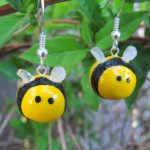 Sunhawk Bee Earrings