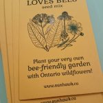 SUNHAWK LOVES BEES seed project - envelopes ready