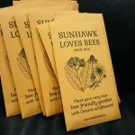 SUNHAWK LOVES BEES seed project - finished seed packets
