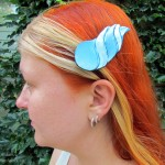 dragonhorn barrettes- blue & lightblue
