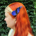 dragonhorn barrettes - purple & black