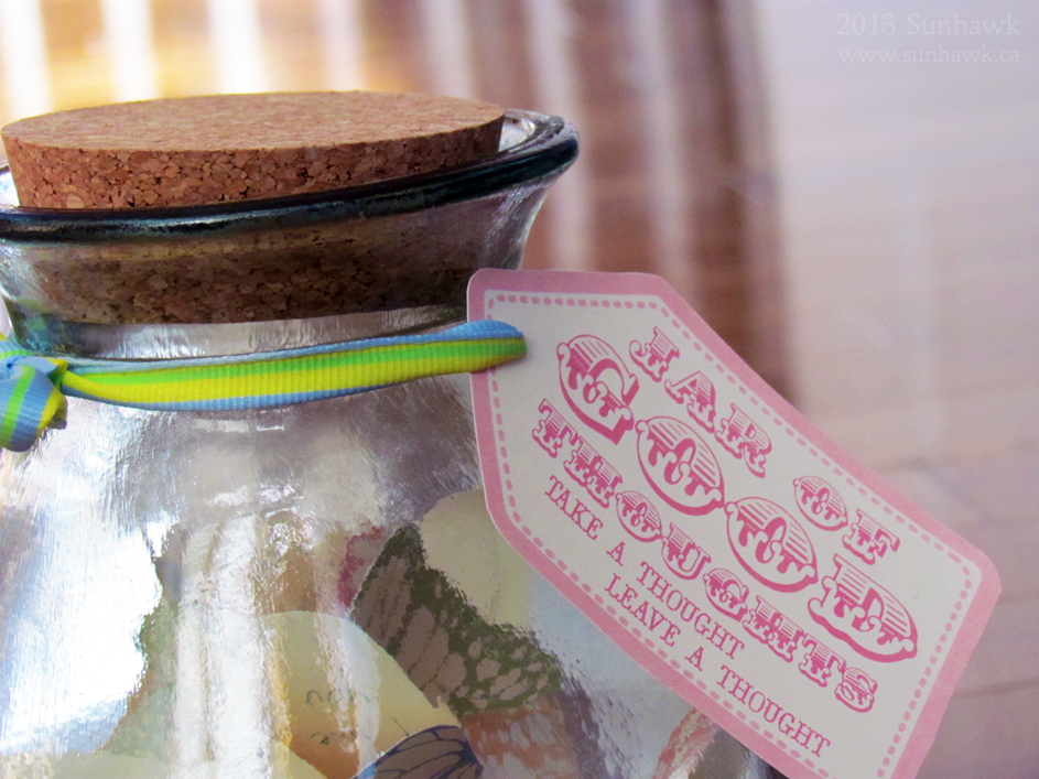 Good thoughts in a jar quotes