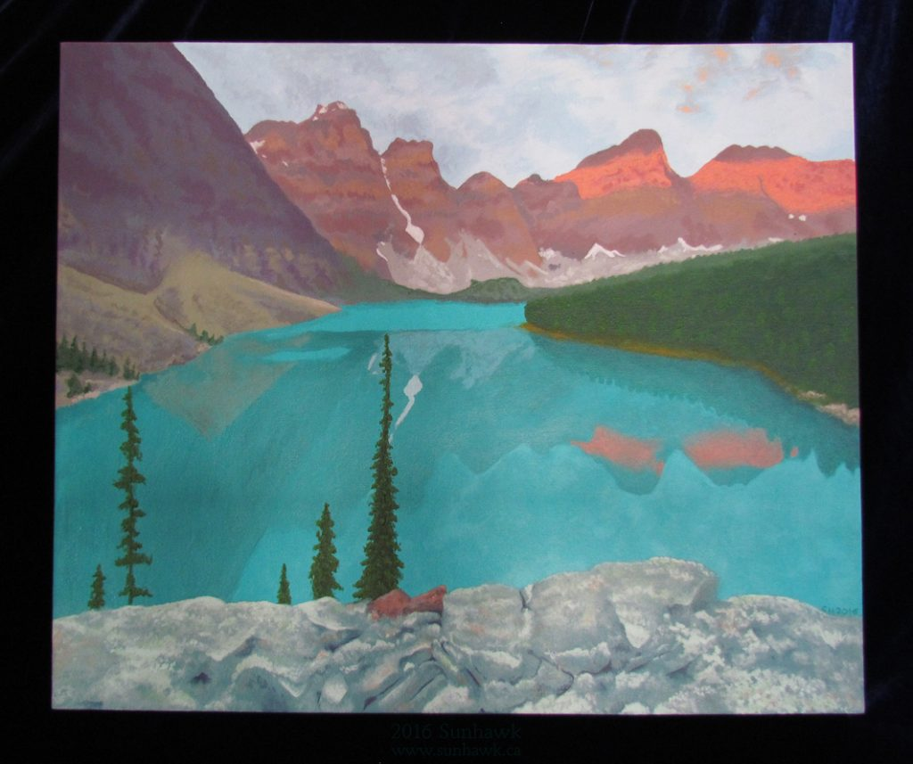 morraine lake - painting by Sunhawk